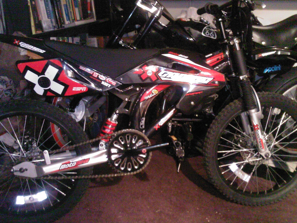 52cc Stage 2 Cag Cvt Powered X Games Motobike Motorized Bicycle