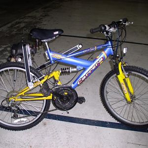 blue and yellow bike