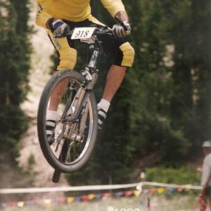 40mph in the air in 1992 Kamikaze Downhill