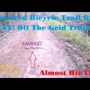 Motorized Bicycle Trail Ride19 (Way! Off The Grid Trails!)