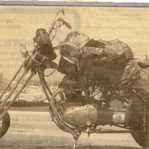 Earth Day Grand Haven Tribune News Paper front page picture, 26 years ago I built this bike too!
