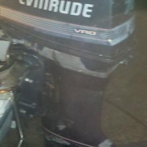 70hp Evinrude outboard Looks like crap, but it loves to run a wot! It don't like to just sit and idle. It hates reverse, to get in reverse when coming