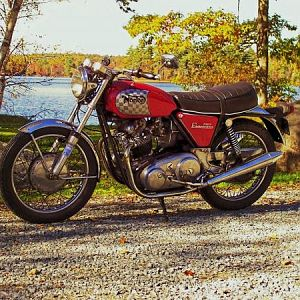 '69 750 commando on rocky lake rd