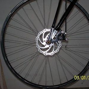 Disc brake conversion