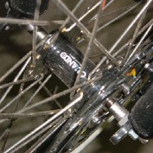 Quando disc hub with chromoly tandem axle from Harris Bros.