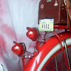 I love these kind of tail-lights.  I like the period-looking trunk too.  And, as you can see from this photo, when I was pounding out dents, I missed