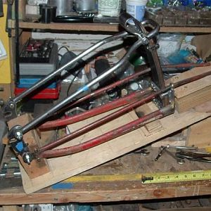 8- Fork fabrication with Model T Ford leaf springs