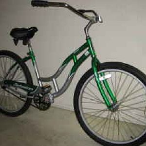 this is another persons picture of the same bike. mine cost $25 because i got it at a yard sale and the front wheel was very slightly potato chipped