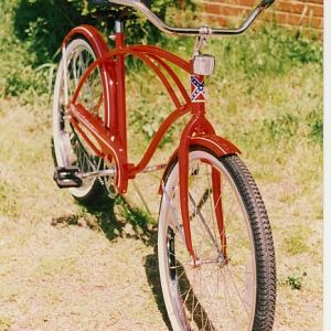 My Red Huffy and soon to be my first motorized bicycle.
