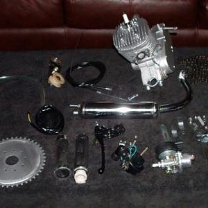 My engine kit which arrived Friday 9.28.12