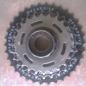 This 24 Falcon sprocket had a smaller cut out than the Shimano so I used it.