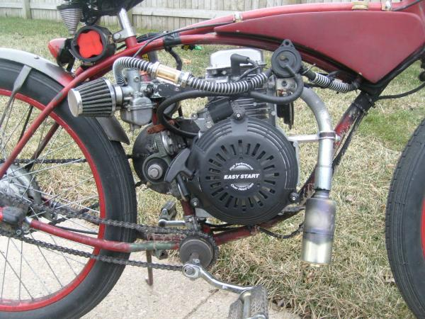 honda gc 160 with 22mm mikuni and inline fuel pump