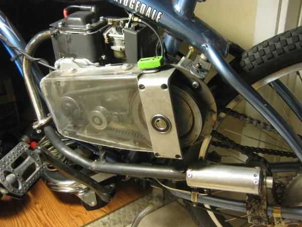HS EZM on alloy frame with custom exhaust | Motorized