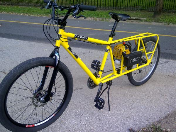 yellow complete bike