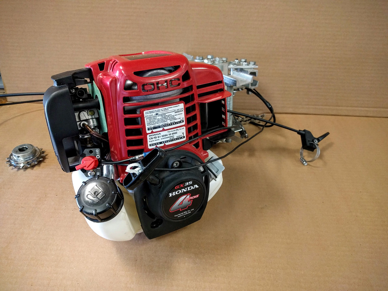 Staton Honda GX35 35 8 cc 1 60 HP Four Cycle Gear & Chain